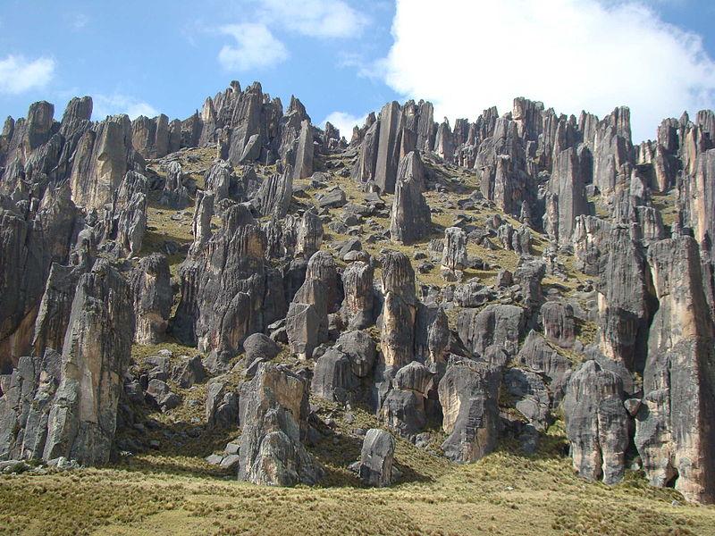 El bosque de piedras de Huayllay en Perú